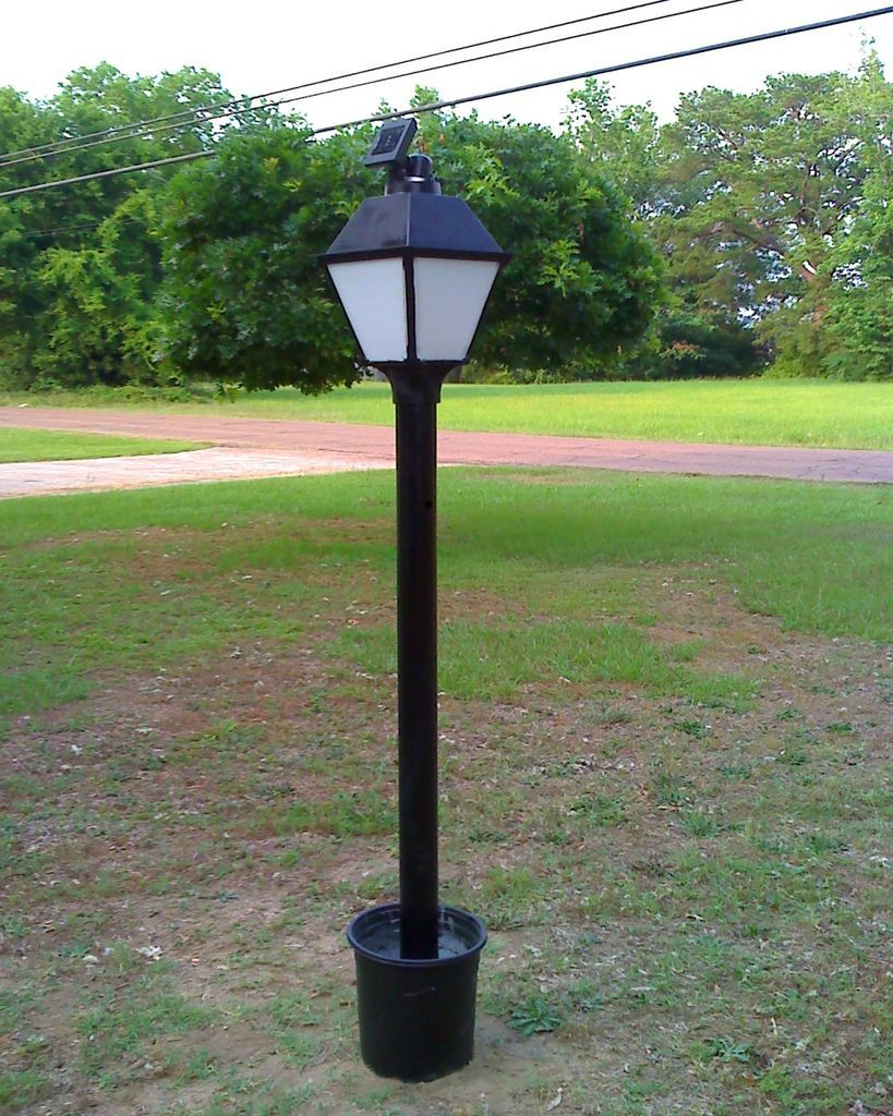 Solar Powered Led Lamp Post Lamp Post Solar Lights Diy Solar Power Diy