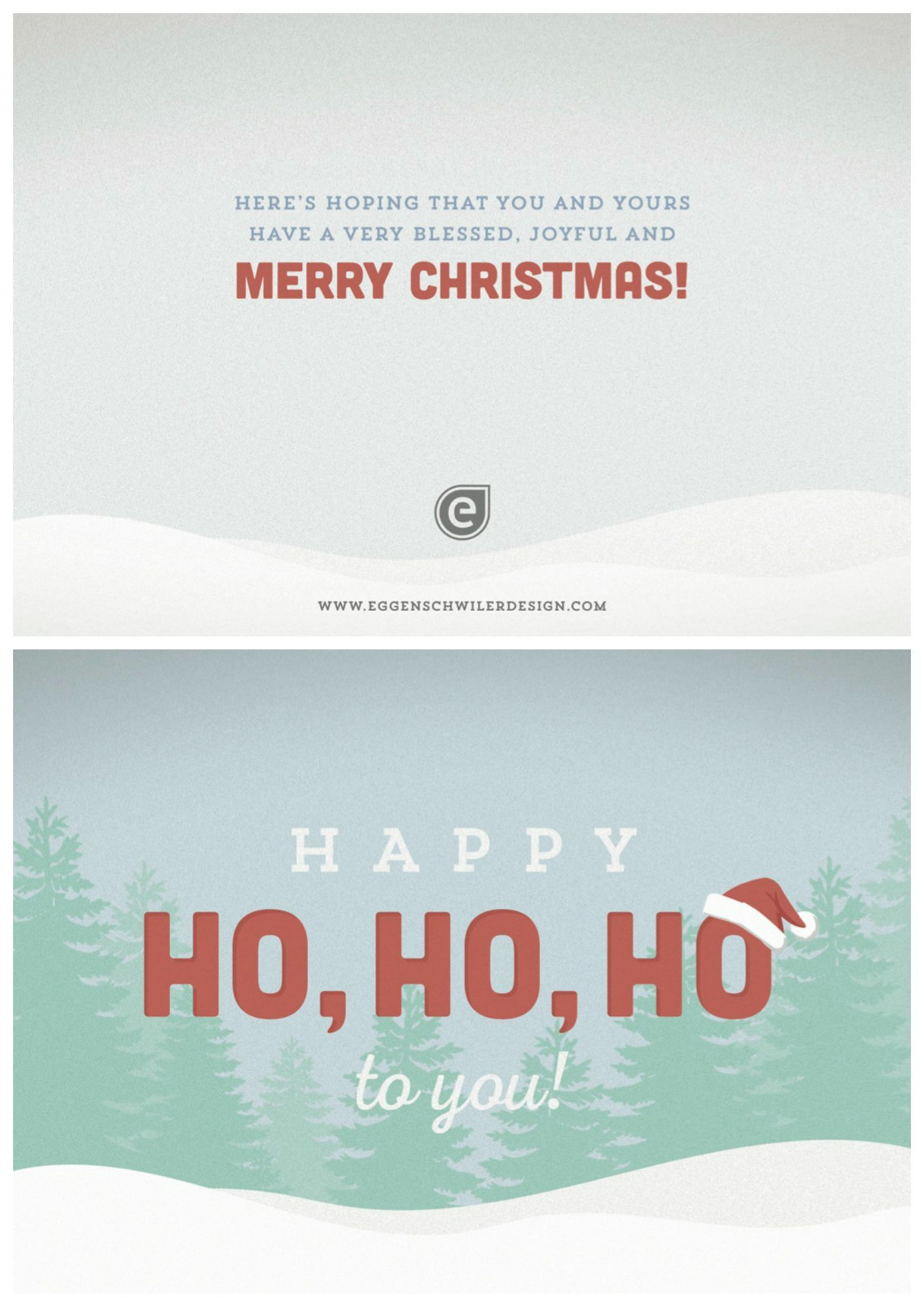 Corporate Christmas Card With Simple Design And Colors