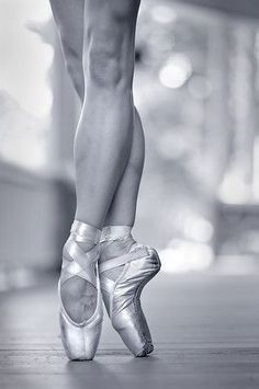 Ballet Dancer Shoes Black And White Photography Dancing