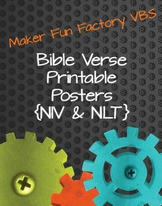 Bible Verse Printable Posters {NIV  NLT} Maker Fun Factory VBS