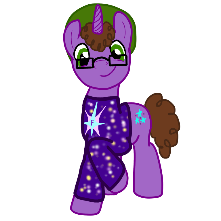 Space Sweater the unicorn. MLP OC Mario characters