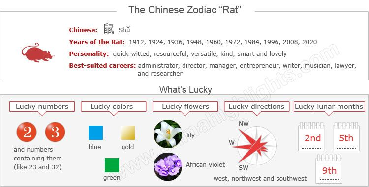 Year of the Rat 2020 | Feng Shui | Chinese zodiac, Chinese