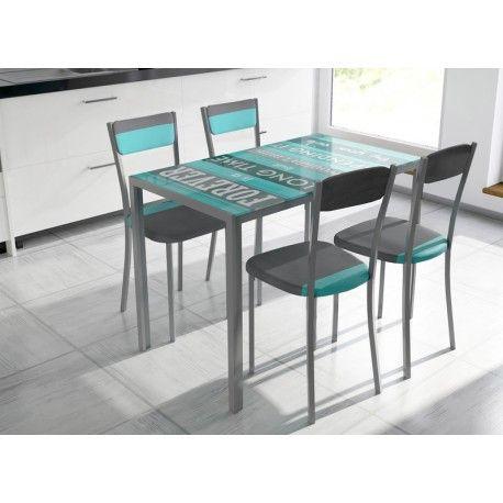 Conjunto de mesa y sillas de cocina estilo moderno una mesa de ...