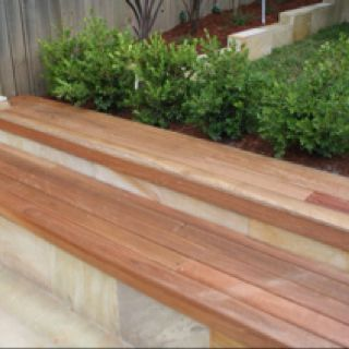 Awesome Wooden Bench On Retaining Wall Garden Retaining Wall Onthecornerstone Fun Painted Chair Ideas Images Onthecornerstoneorg