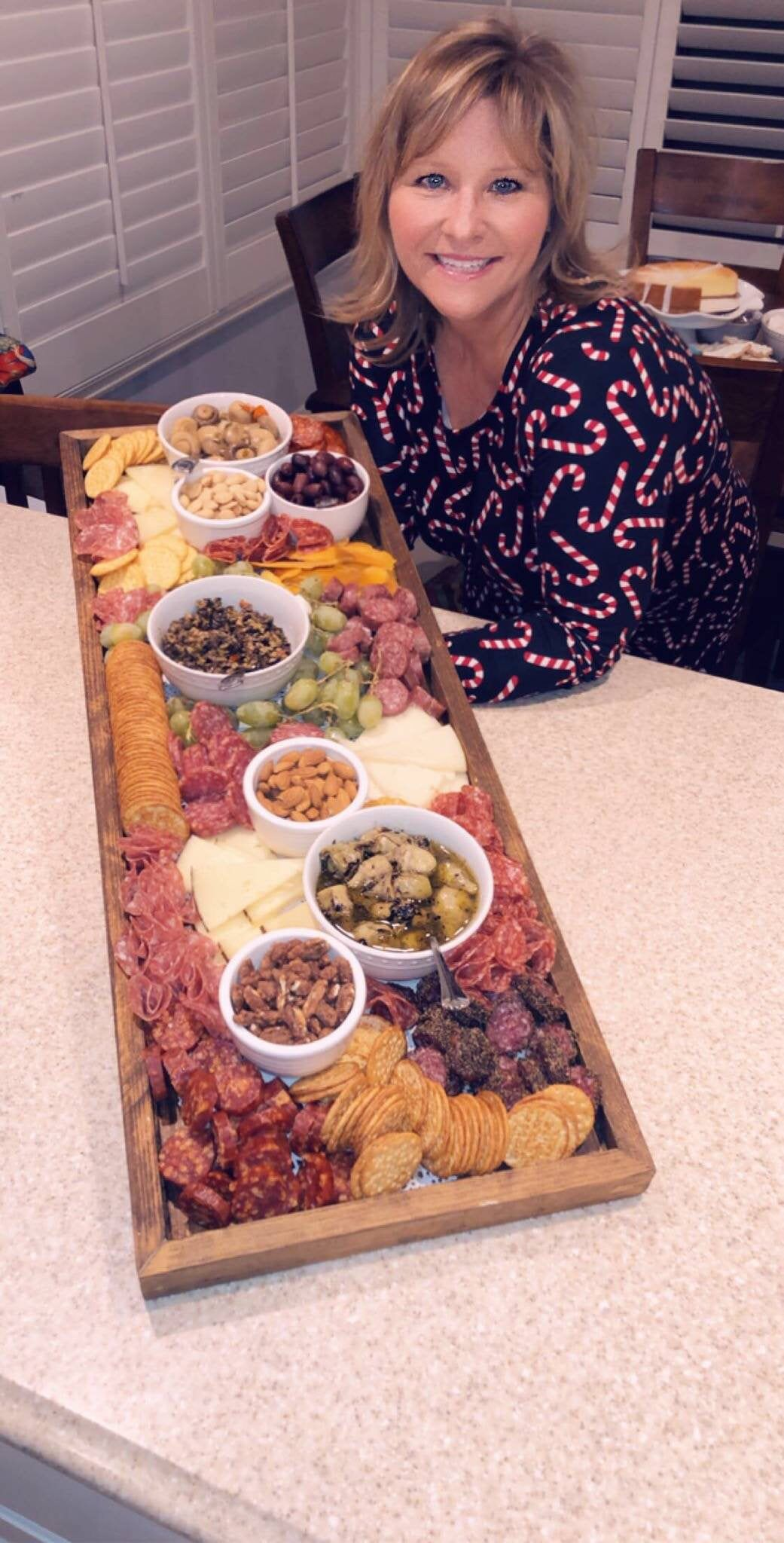 Charcuterie Board Tray , Large Cheese Tray, Platte