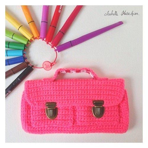 little crochet bag | bolsos ganchillo | Pinterest | Lindo, Bolsos y ...