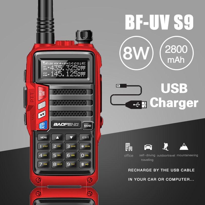 2018 Baofeng Uv S9 Powerful Walkie Talkie Cb Radio Transceiver 8w