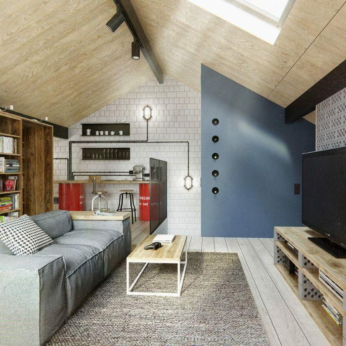 dachgeschoss wohnzimmer farben kombinieren Bühne Pinterest - modernes einrichten dachgeschoss