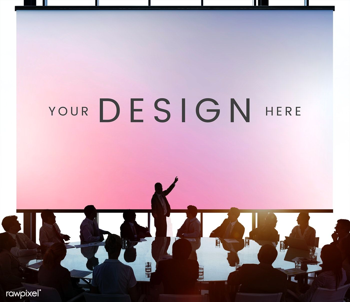 Download Premium Psd Of Business People In A Conference With A Projector Design Mockup Free Business People Stock Images Free