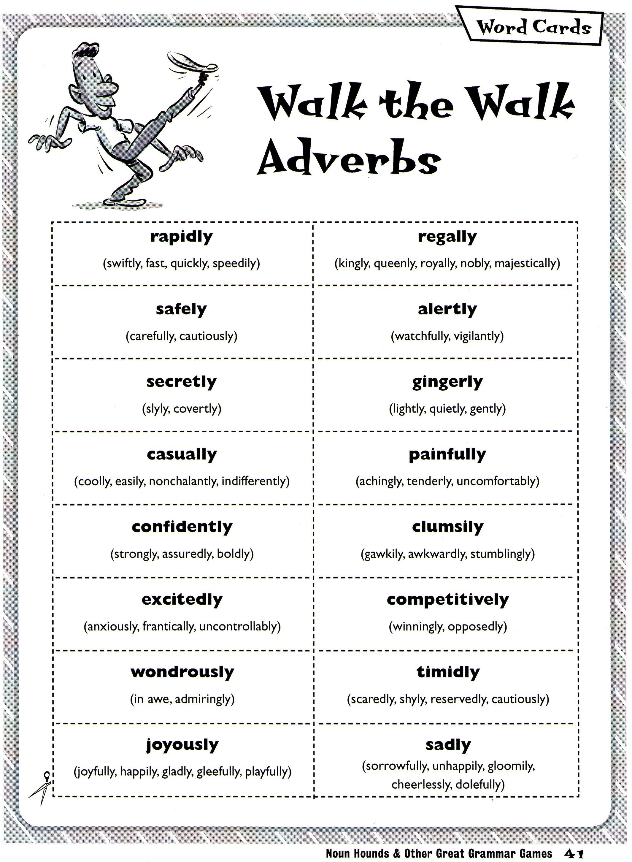 Walk The Walk Adverbs Charades
