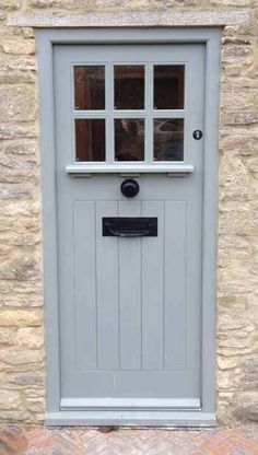 arts and crafts door with 6 panes of glass made from sapele hardwood rh pinterest com cottage front doors for sale cottage front doors uk