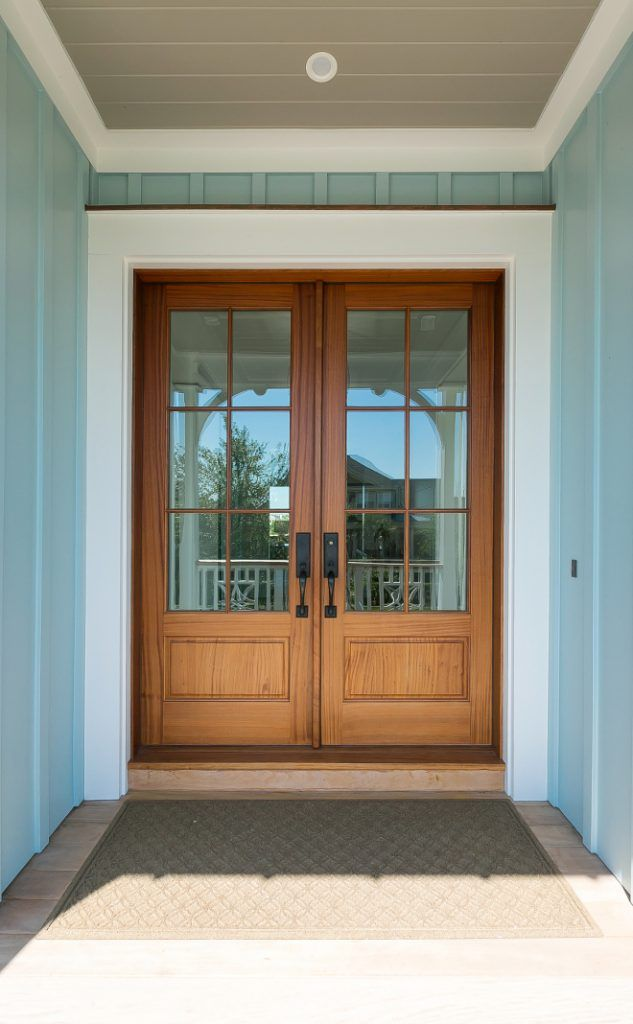 Front Door Is Pella Provincial Finish Porch Ceiling Paint Color Sherwin Williams Sw 7025 Backdrop Pelladoors Provincialfinish Frontdoors
