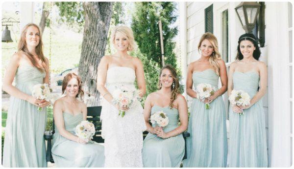 Tiffany Blau Hochzeit Brautjungfernkleider Abendkleider lang mit ...