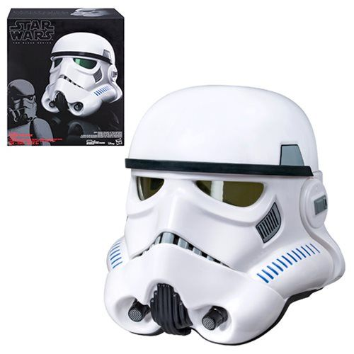 (affiliate link) Star Wars The Black Series Rogue One Imperial Stormtrooper Electronic Voice-Changer Helmet Prop Replica