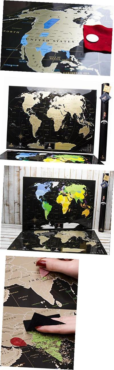 Other travel maps 164807 black world scratch off map w large usa other travel maps 164807 black world scratch off map w large usa map and gumiabroncs