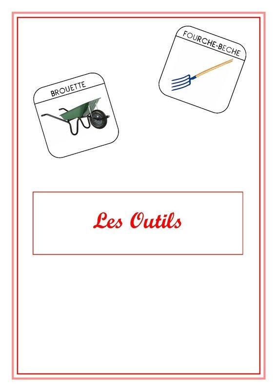 Imagier du jardin les outils enfants livres fiches de for Les outils de jardinage