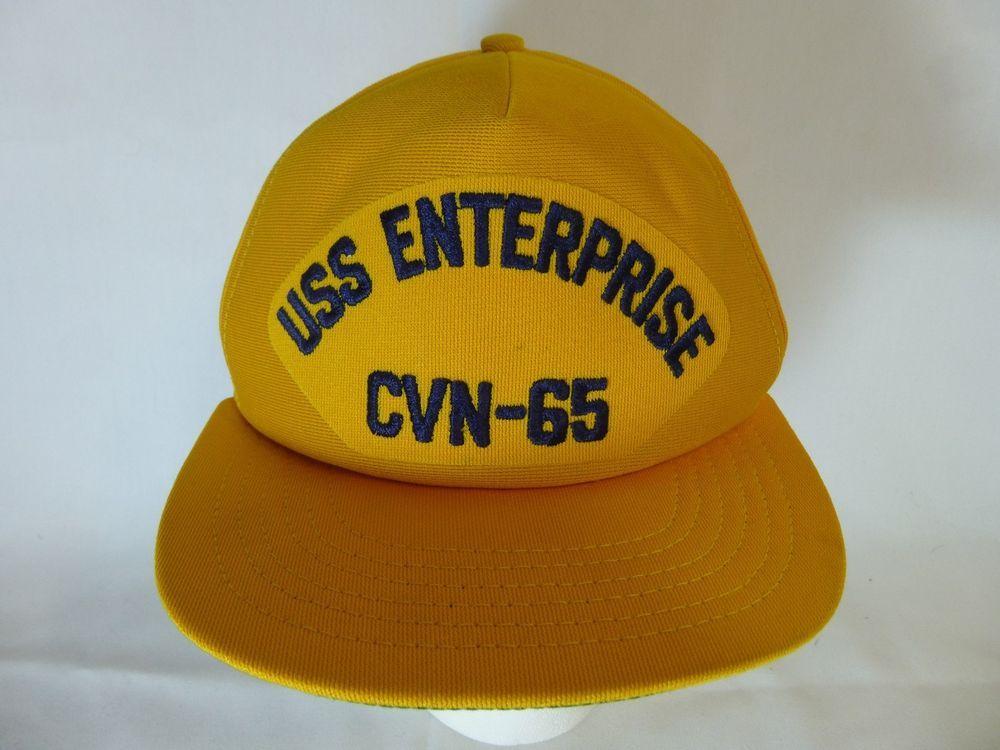 Vintage USS ENTERPRISE CVN-65 Snapback Hat Cap US Navy Made in USA #Cap