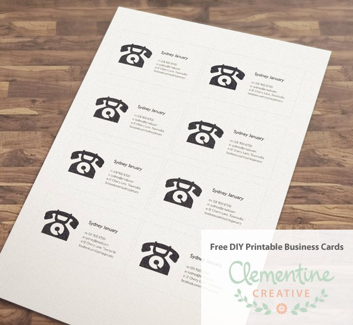 Free DIY Printable Business Card Template Printable business cards - Sample Cards