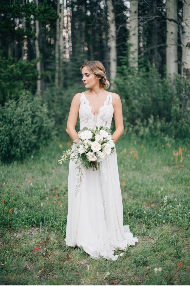 Rocky mountain ruins wedding inspiration bridal shoot banff and