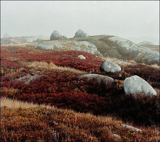 """Stone Heath"", oil/tempera on panel, Richard Thomas Davis"