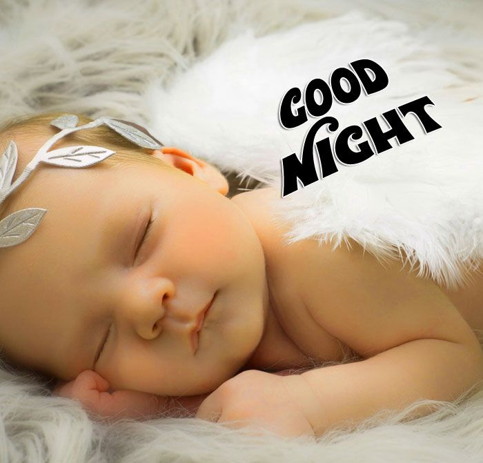 Good Night Images With Cute Baby Cute Baby Sleeping Good Night Image Cute Kiss