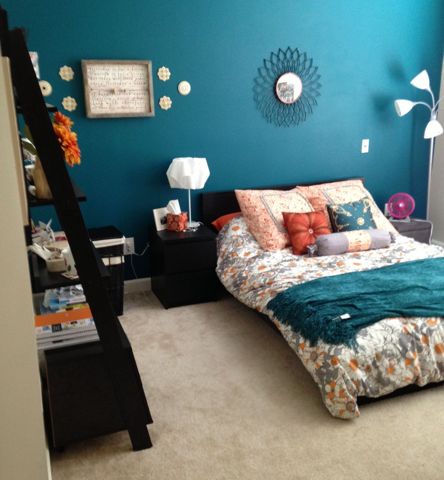 Teal Accents Grey Burnt Orange Black Furniture College