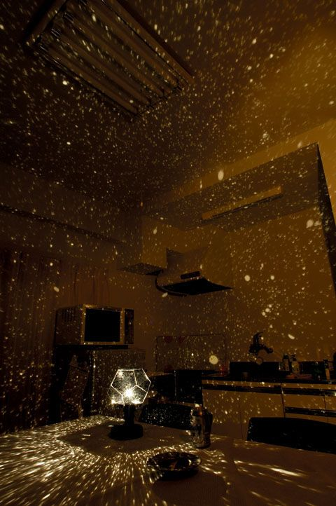 taking a starry night sky inside your home. love!