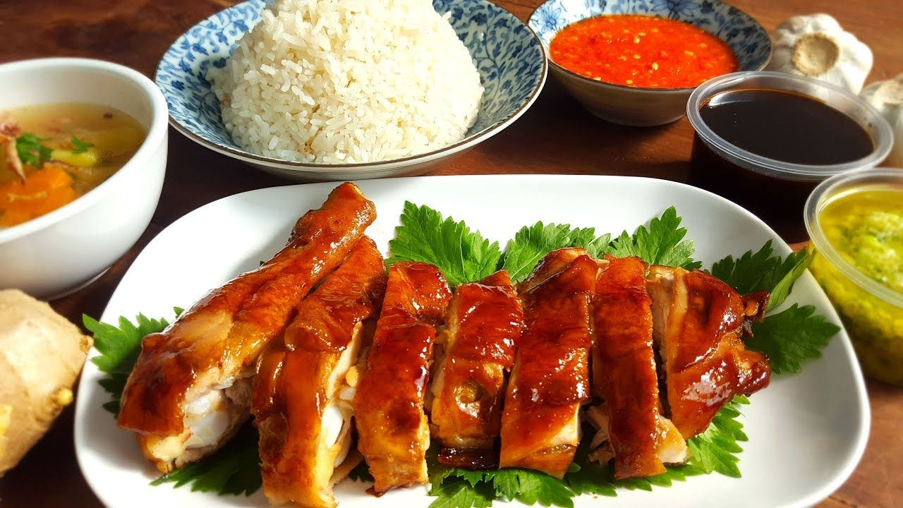 Roasted Chicken Rice Nasi Ayam Panggang Youtube Ayam Panggang Resep Masakan Asia Resep Makanan