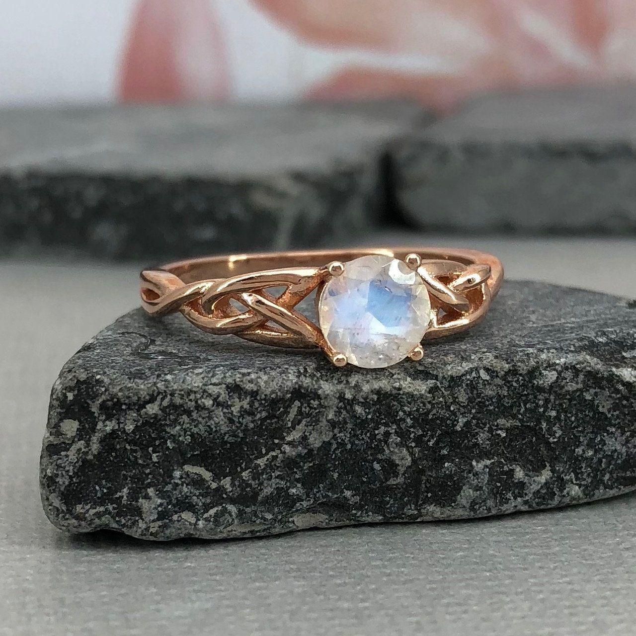 celtic moonstone engagement rings - HD1280×1280