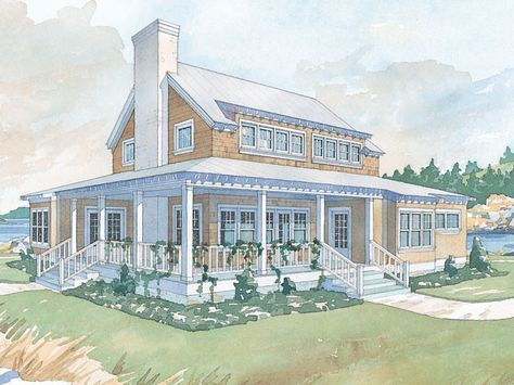 Whitefish Retreat - Coastal Living | Southern Living House Plans ...