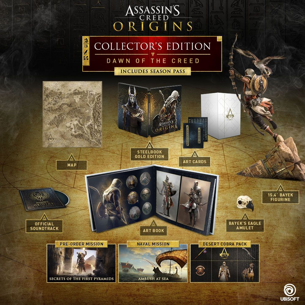 Buy Assassin S Creed Dawn Of The Creed Collector S Edition For Ps4 Xbox One And Pc Ubisoft Off Assassins Creed Origins Assassins Creed Assassins Creed Game