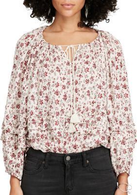 Denim  Supply Ralph Lauren Floral Multi Boho Off-the-Shoulder Blouse