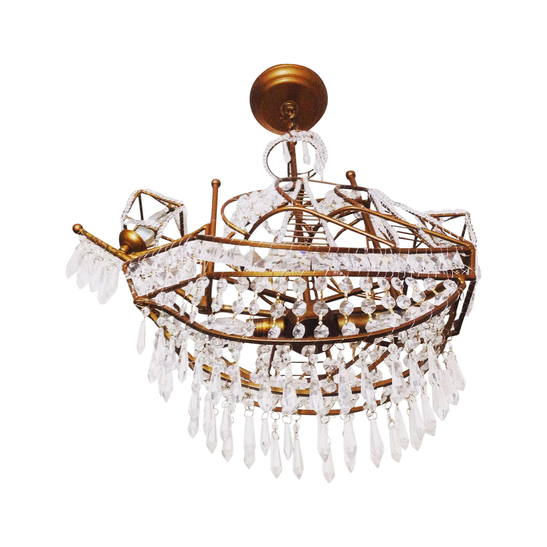 Gold & Crystal Ship Chandelier Shop Darling House