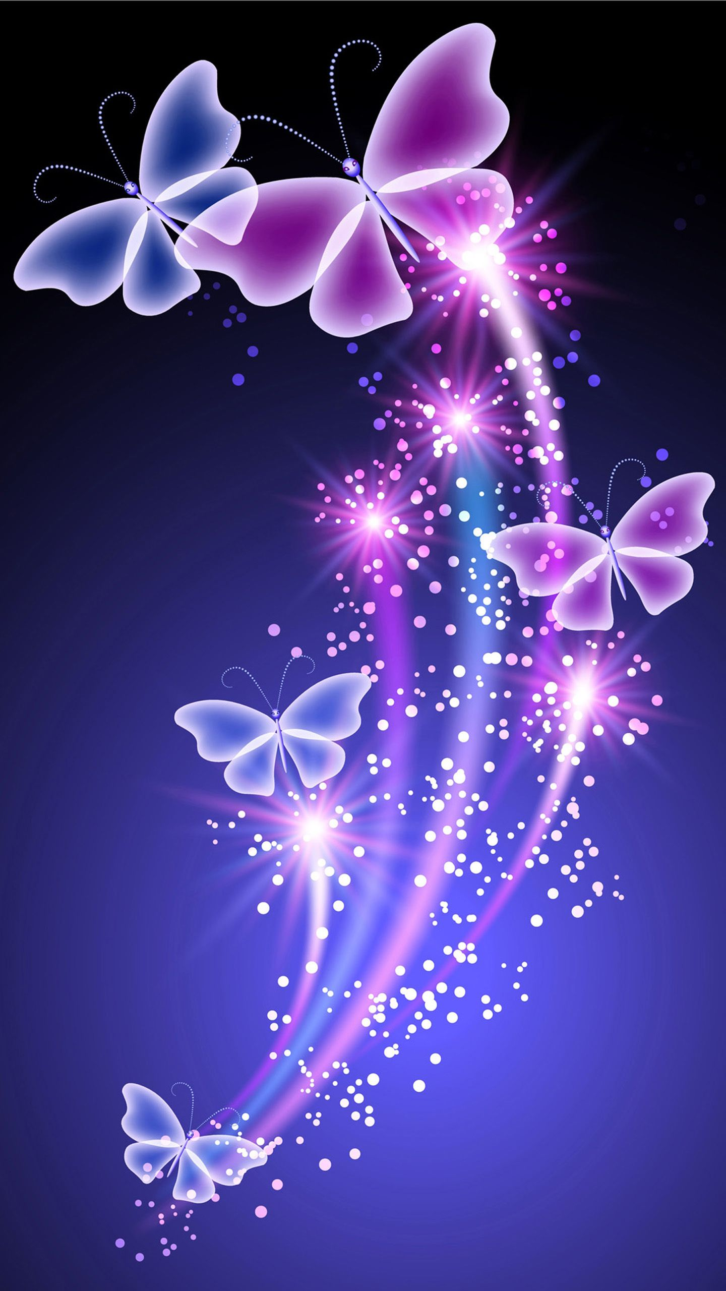 Butterfly With Flowers Wallpapers On