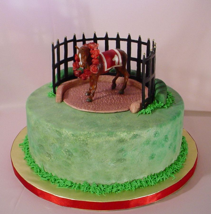 Race Horse Groom Cake Thoroughbreds And He Loves Racing Very Non