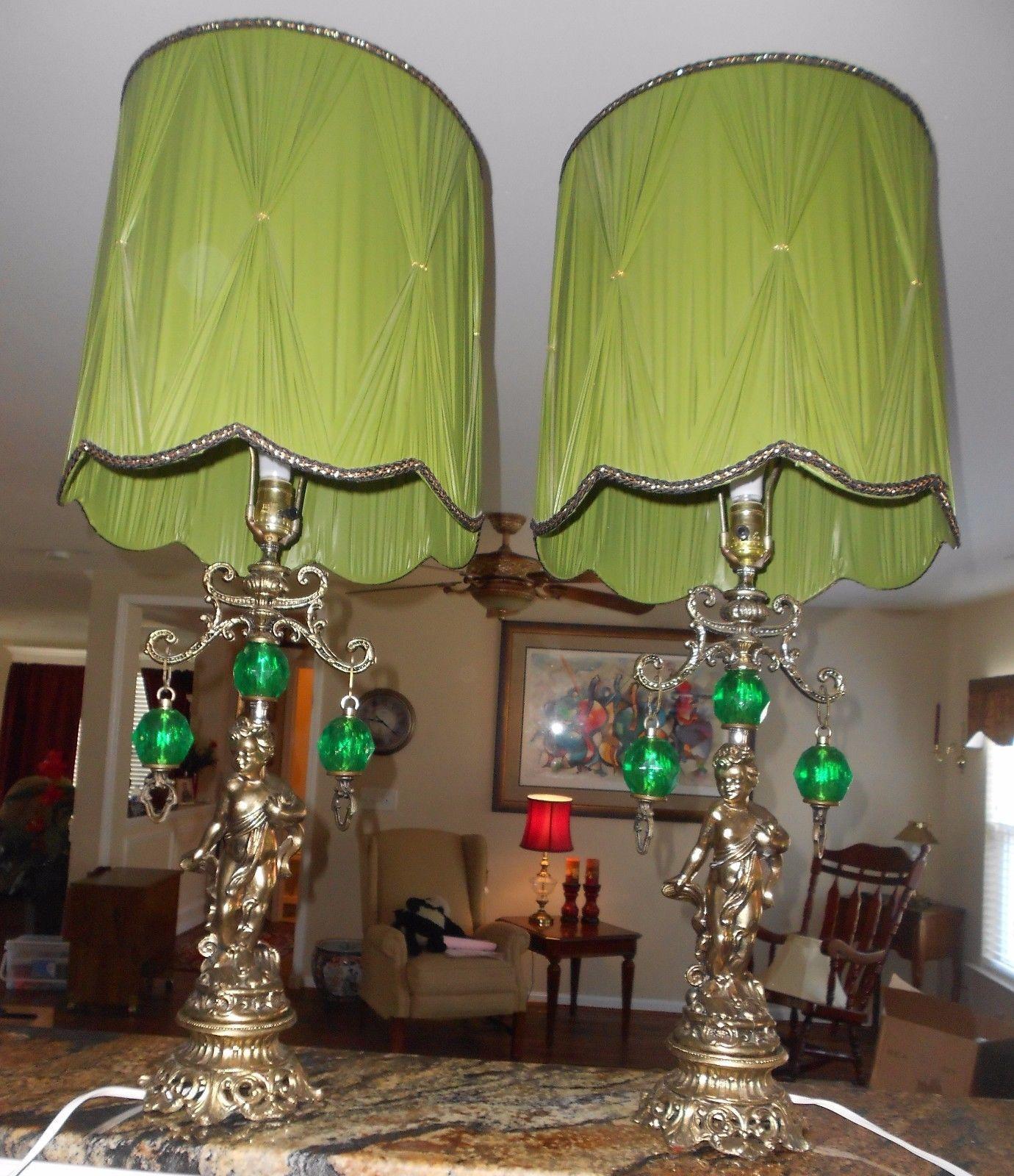 Details About Large Table Lamps_Set 2_ Vintage Ornate