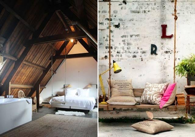 swings indor schaukel pinterest w nde. Black Bedroom Furniture Sets. Home Design Ideas