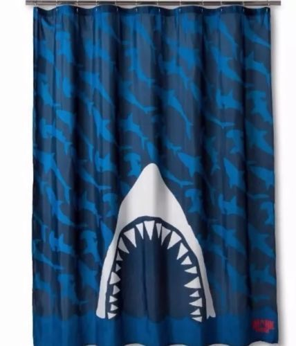 Discovery Shark Week Fabric Shower Curtain Size 70 In X 72 In