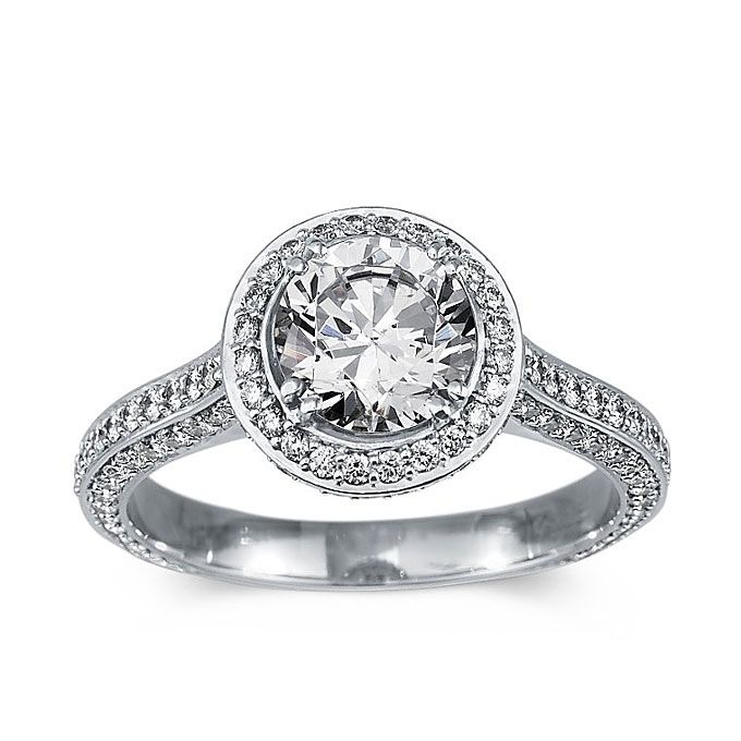 Style 15179 Heirloom Halo Micropavé Diamond Engagement Ring In Platinum 9 334 Blue Nile