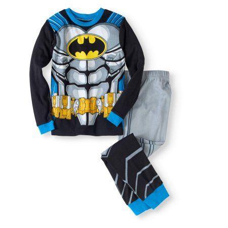 2T Character Sleepwear Boys Batman One-Piece