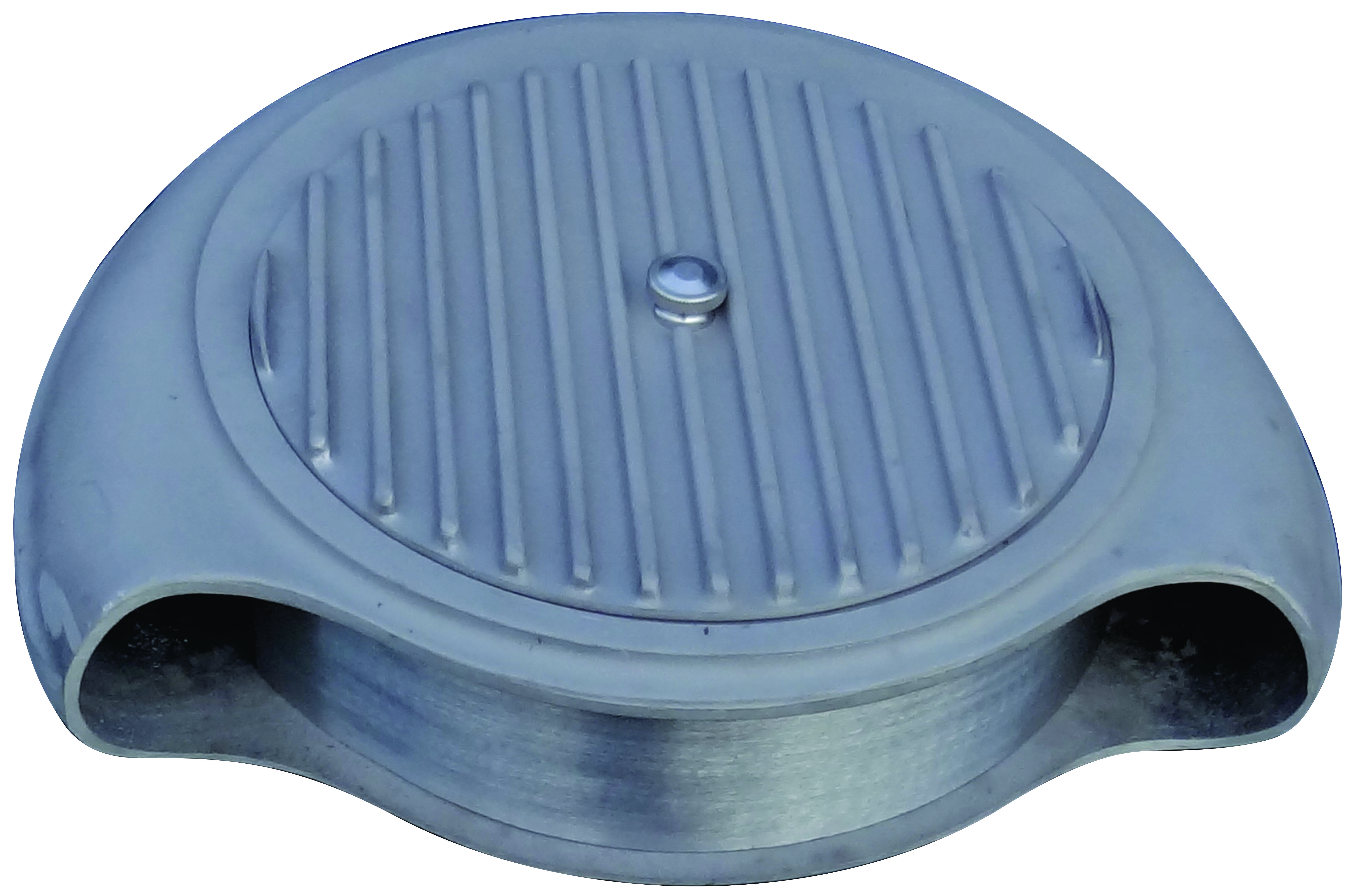 As cast cast aluminum BatWing air cleaner with finned