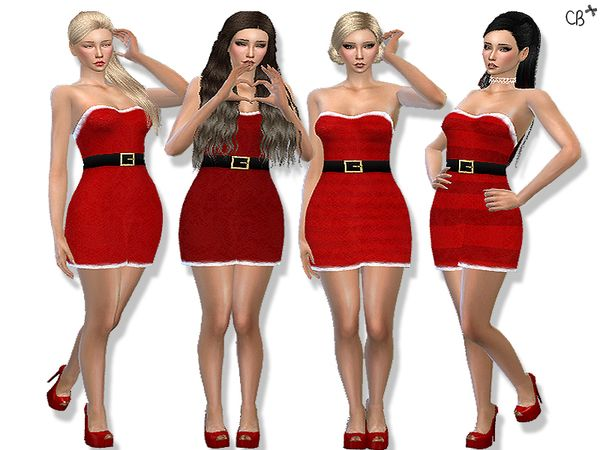 Classic Christmas dress at Cherryberry • Sims 4 Updates