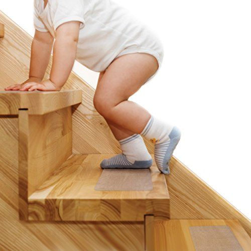 Steady Treads Set Of 10 PVCFree NonSlip Clear Adhesive Stair Treads And  Handy Installation Roller Improve