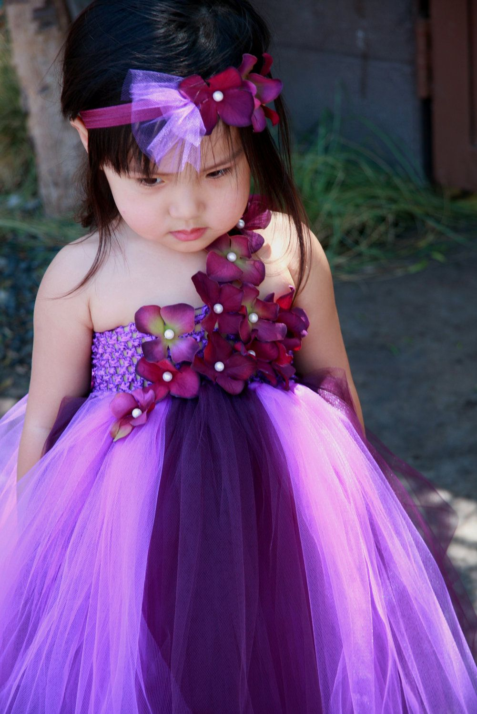Limited Eggplant And Purple Tutu Dress Weddingrthdayflower Girl