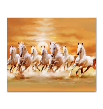 Horse Running In The Sunset Canvas Print Horse Canvas Painting Horse Oil Painting Horse Painting
