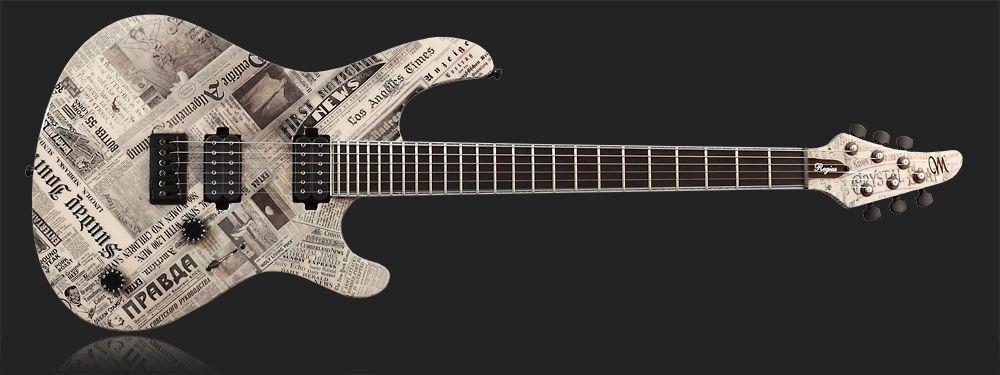 Newspaper Finish Guitar - SevenString.org