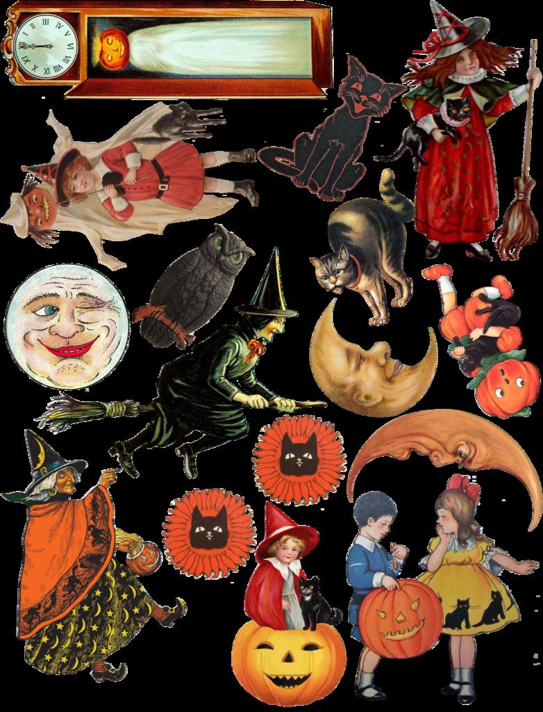 artfully musing free vintage halloween collage sheet happy halloween  [ 782 x 1024 Pixel ]