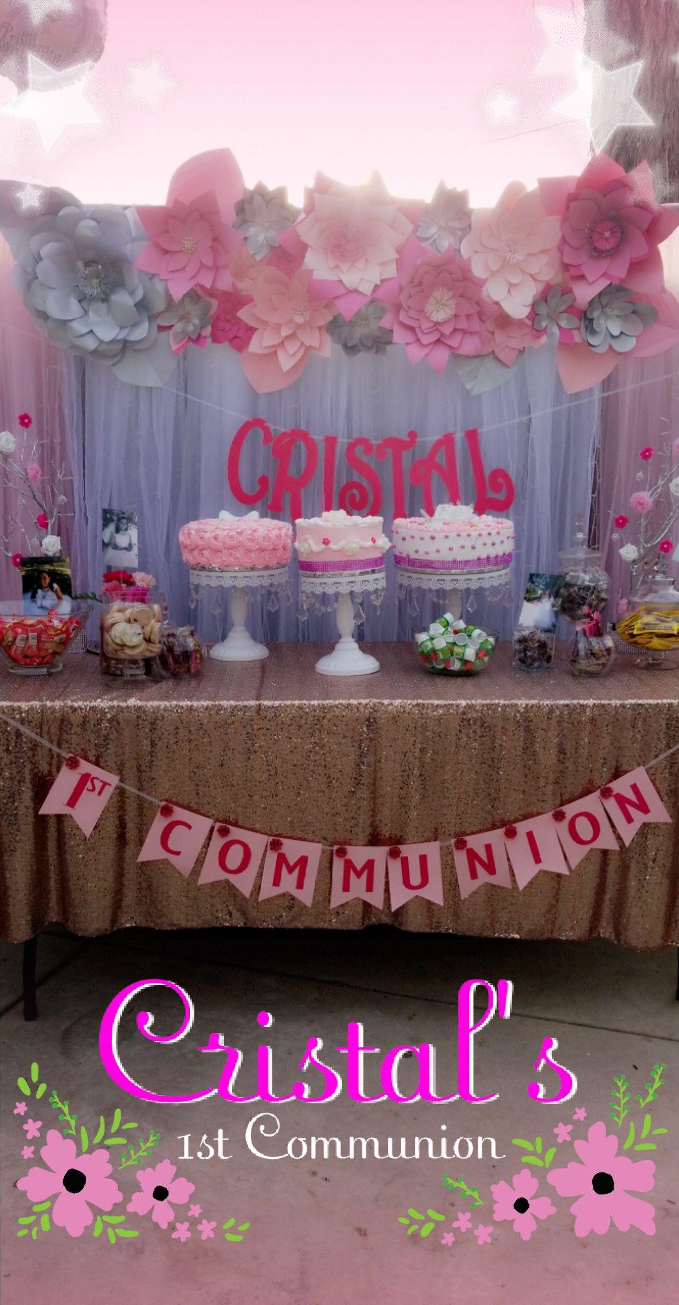 1st Communion Candy Table Fist Communion Party 1st Communion Decorations First Communion Back Communion Decorations First Communion Party Communion Party