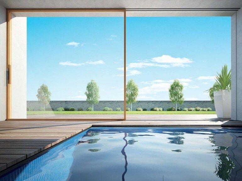 Porta finestra alzante scorrevole con doppio vetro in legno skyline porta finestra alzante - Porta finestra doppio vetro ...