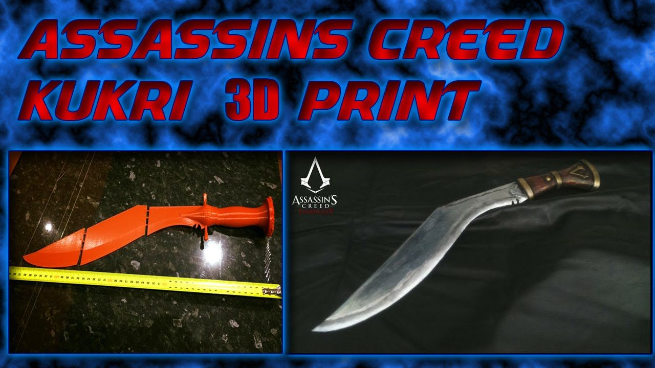 3d Printed Kukri From Assassins Creed Ctc Assassins Creed 3d
